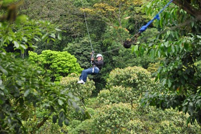 Ziplining in the Mindo Cloud Forest