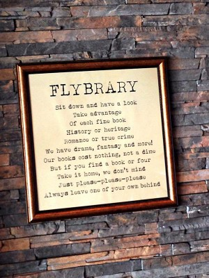 Cape Town Airport Flybrary Framed Text