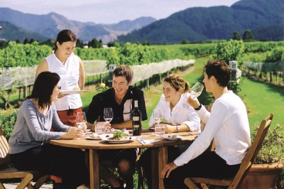 New Zealand wine-tasting