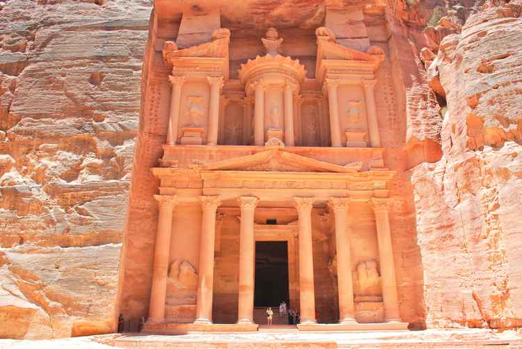 Petra's magnificent Treasury is an essential inclusion for all Jordan tours.