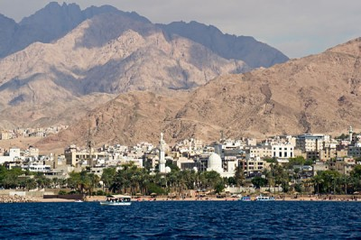 Seaside view of Aqaba and the Red Sea is an essential inclusion for all Jordan tours.
