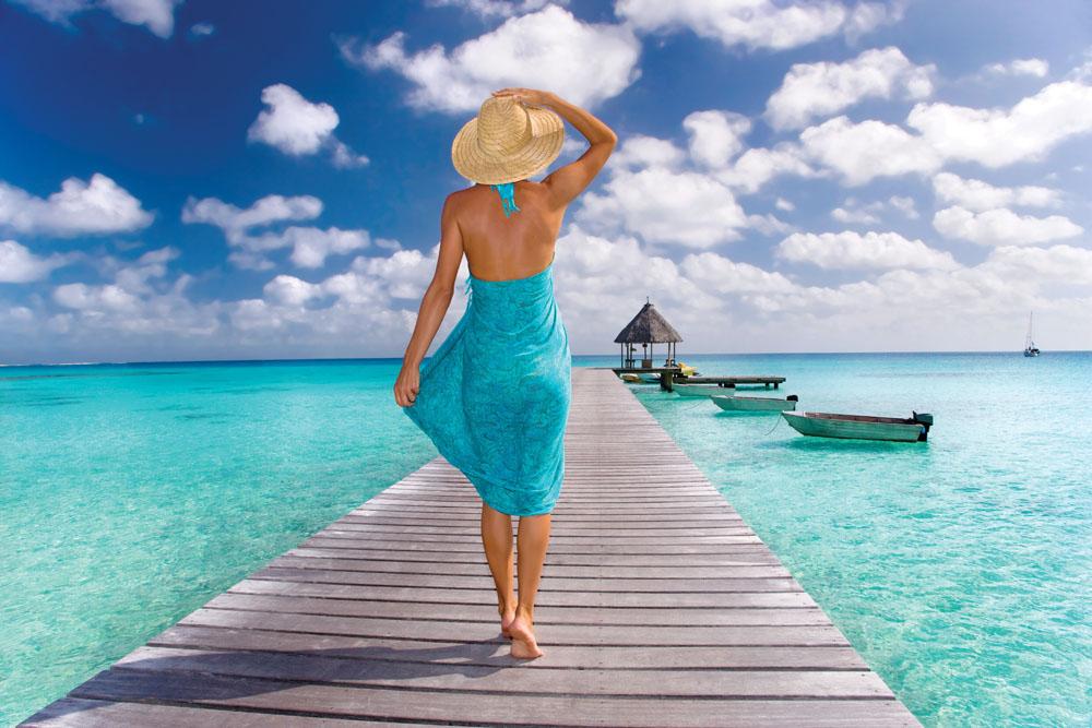 Enjoying the warm breezes of Tahiti