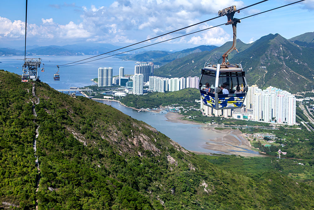Hong Kong Cable Car at Ngong Ping , Hong Kong