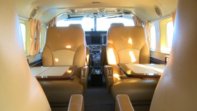 The interior of the Sky Safari's 9 seater Cessna 208B aircraft