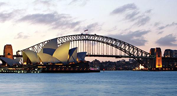 Sunset Harbour Sydney Australia