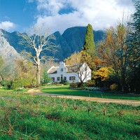 Cape Dutch winelands in Franschhoek