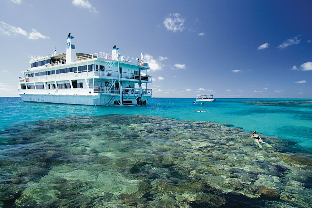 Snorkelling in the Great Barrier Reef with Coral Princess