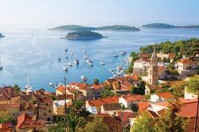 Picturesque city of Hvar, Croatia
