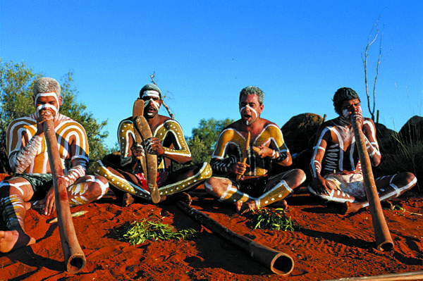 Aboriginal Didgeridoo Players, Australia