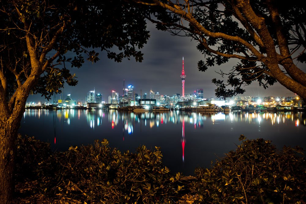 Auckland skyline at night