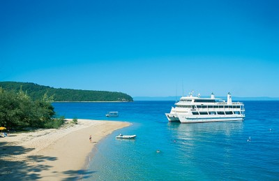 Coral Princess at Pelorus Island