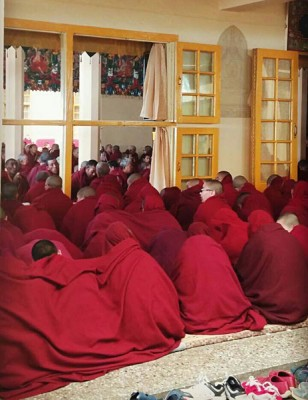 Karens Pic of Long Life Offering Ceremony in Dharamsala, India