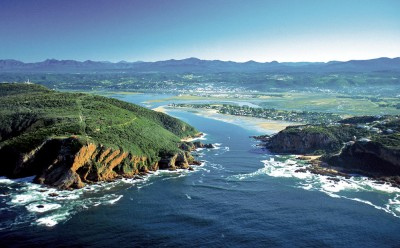 Knysna Heads and Knysna Lake. Western Cape. South Africa