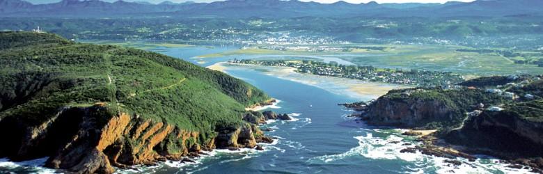 Knysna Heads and Knysna Lake. Western Cape. South Africa