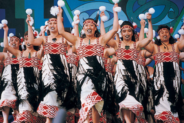 Maori dancers, New Zealand
