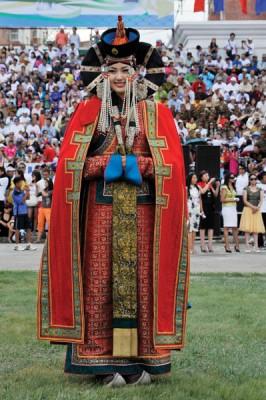 Naadam Festival Woman, Mongolia