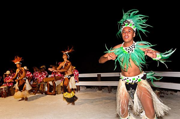 Polynesian dancers on Island Night