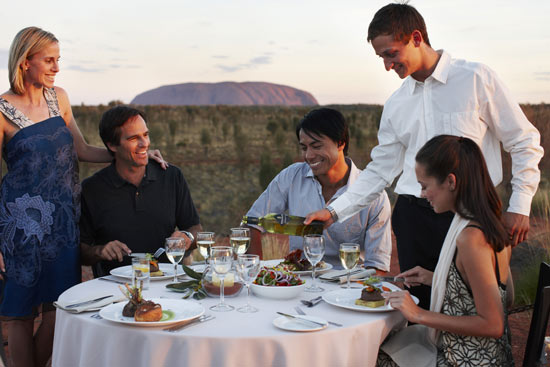 Enjoy a Sounds of Silence dinner at Ayers Rock