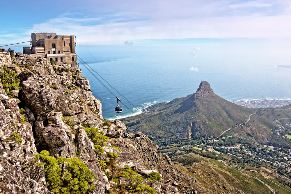 Scenic view from Table Mountain
