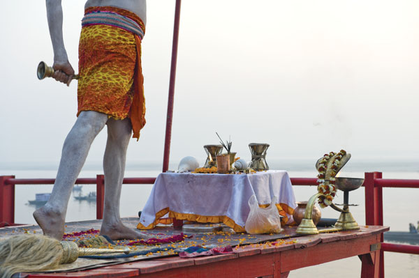 Aarti ceremony in Varanasi, India