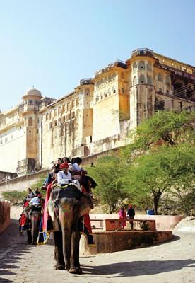 Elephant Ride up to Amber Palace, Jaipur