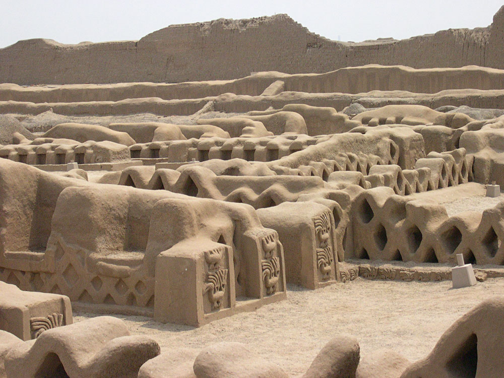 Ancient ruins of Chan Chan, near Trujillo, is another archeological site which is under the threat of erosion due to weather, as well as looting