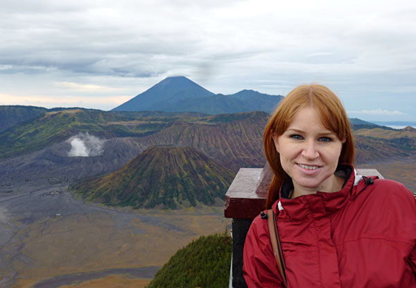Nyssa at Mount Bromo