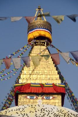 Close up of Bouddhanath