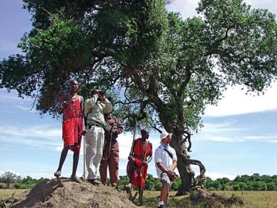 Game viewing in Masai, Kenya