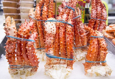King crab legs sold at Sydney Fish Market