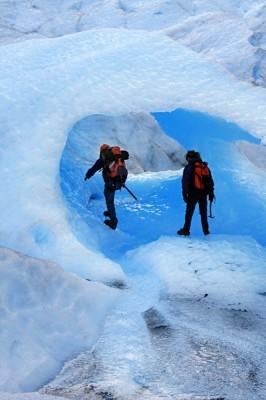 Moreno Glacier mountain climbers