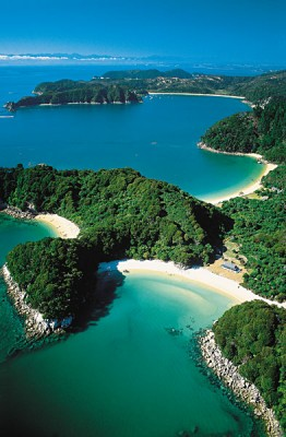 Aerial view of Abel Tasman
