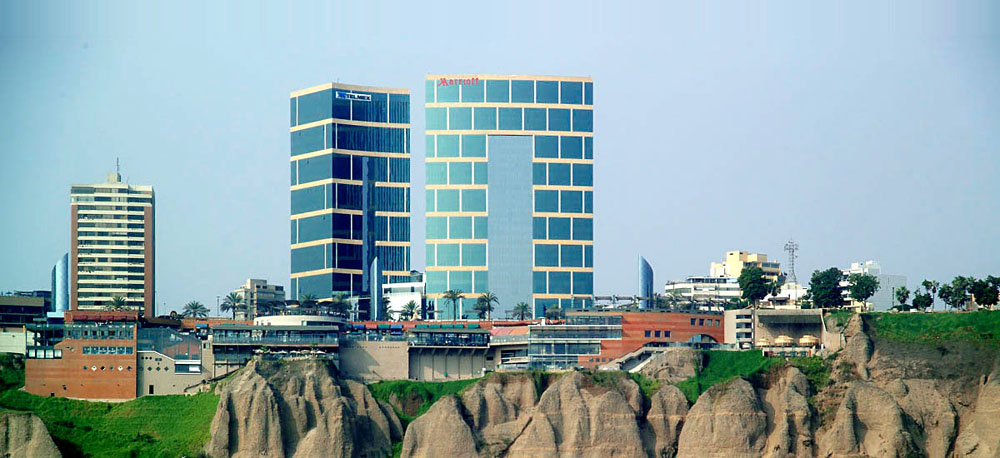 JW Marriott Lima sitting on a cliff