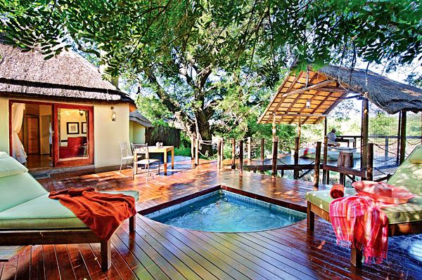 Private pool at Jock Safari Lodge