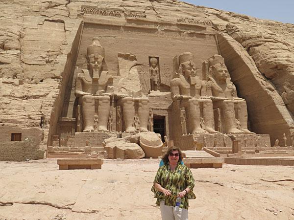 Moira at Abu Simbel