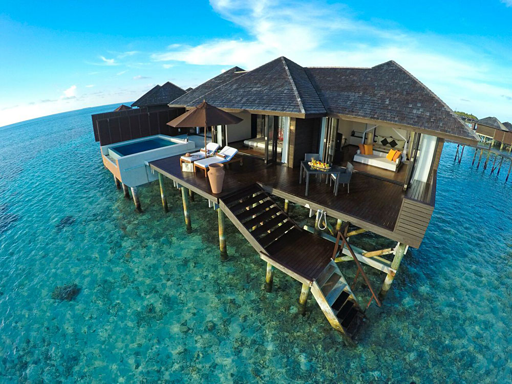 Overwater Bungalow Sunset Water Suite At Lily Beach Resort Maldives