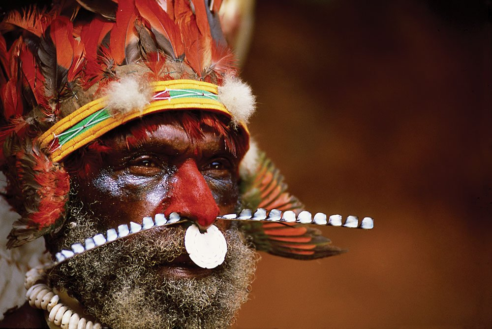 Old warrior, Papua New Guinea