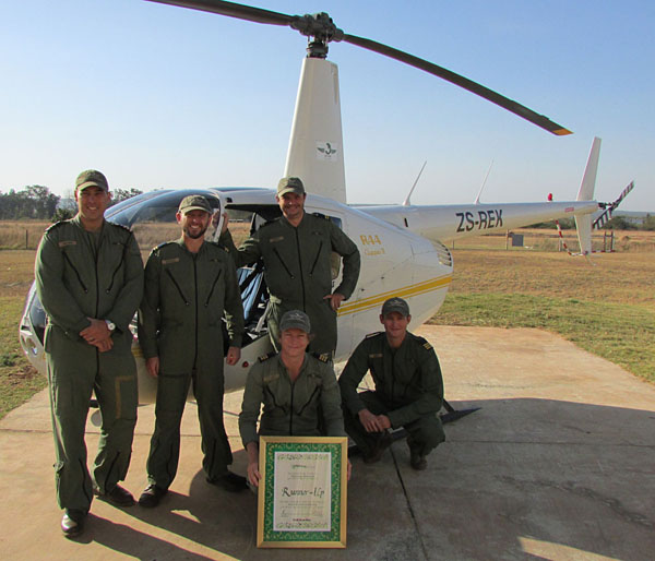 ZAP Wing aerial support units with their 2014 award
