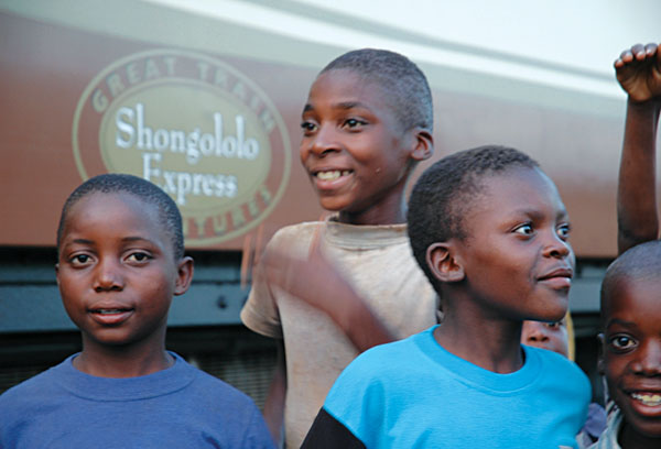 The smiling faces of the local children, South Africa
