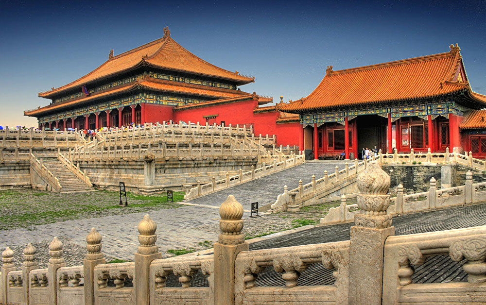 Temples of Forbidden City, Beijing, China