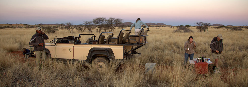 Game drive at Tswalu Kalahari Game Reserve