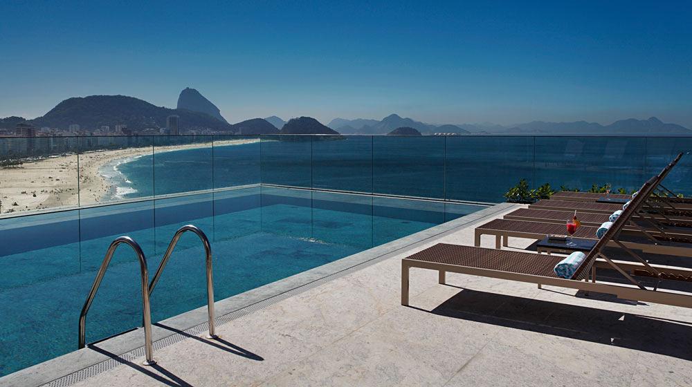 Windsor Atlantica Rio Hotel - Rooftop Pool Overlooking Copacabana Beach, Rio de Janeiro, Brazil