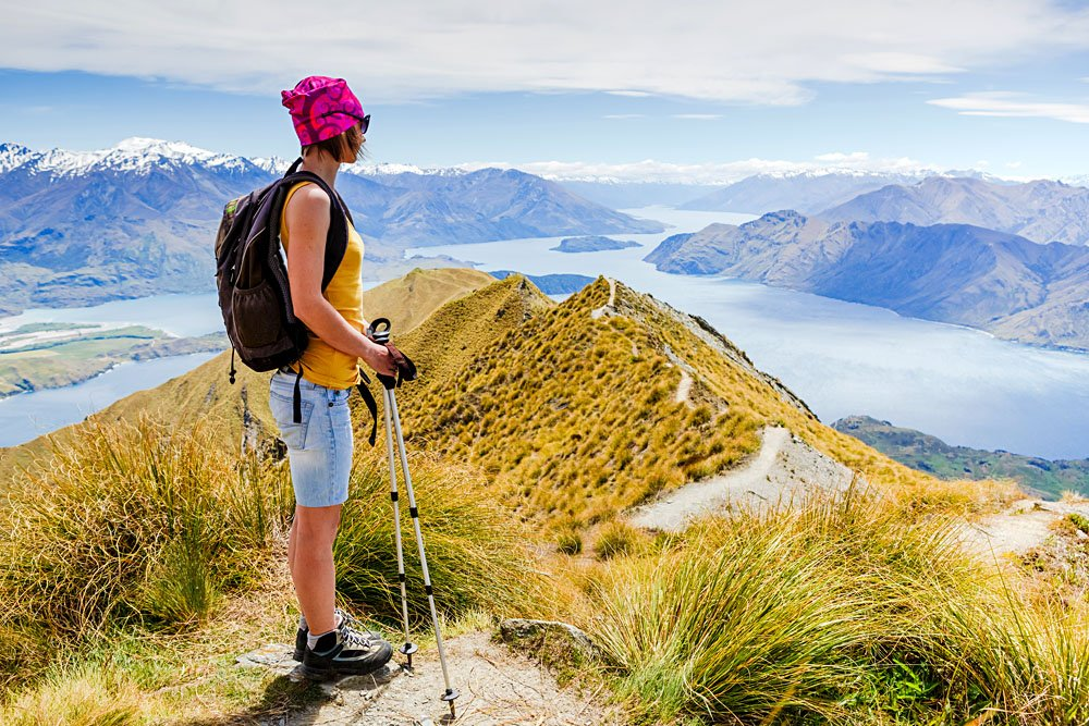 Young Woman Hiking in New Zealand
