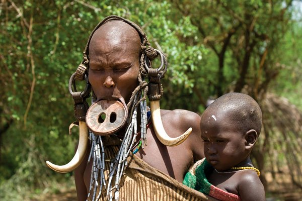 Mursi Tribe Woman, Ethiopia
