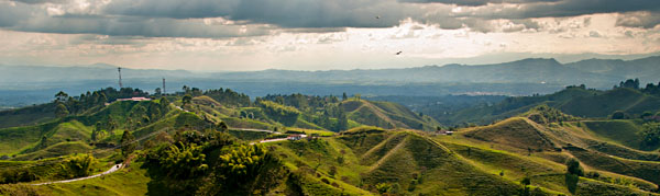 Viewpoint over the coffee-growing region of Colombia