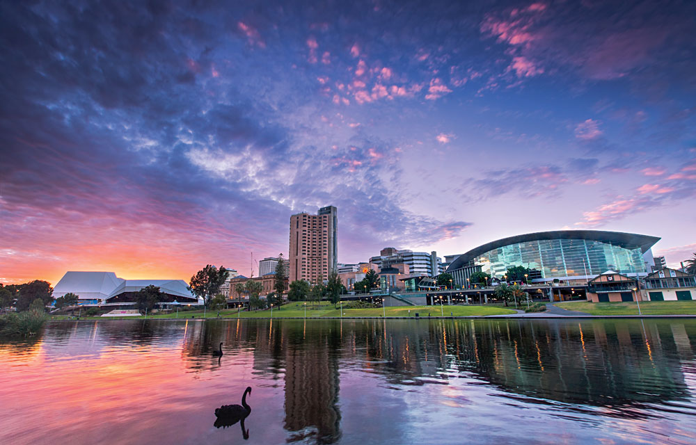 Adelaide at sunset, Australia