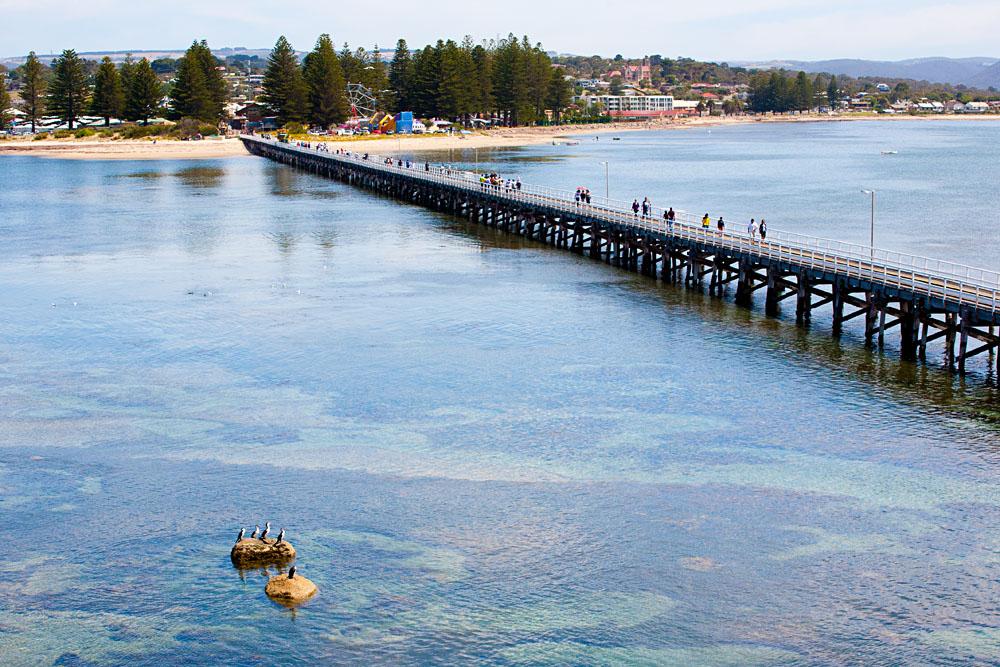 Causeway Between Victor Harbour and Granite Island, South Australia