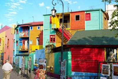 La Boca neighbourhood of Buenos Aires, Argentina