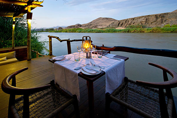 Serra Cafema dining | Photo courtesy of Wilderness Safaris
