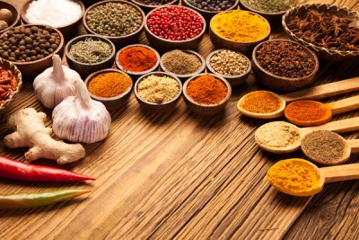 Various colourful spices